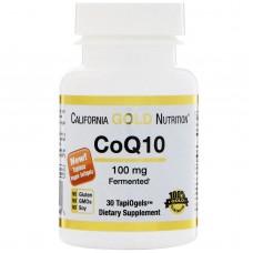 California Gold Nutrition, CoQ10, TapiOgels, 100 mg, 30 Tapioca Veggie Softgels.