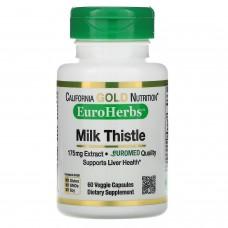 California Gold Nutrition, Milk Thistle Extract, 80% Silymarin, EuroHerbs, Clinical Strength, 60 Veggie Caps