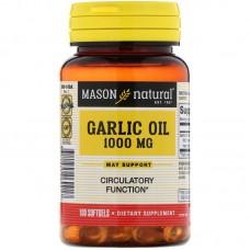 Mason Natural, Garlic Oil supplement 1000 mg, 100 Softgels
