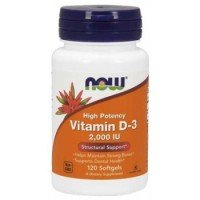 Now Foods, High Potency Vitamin D-3, 125 mcg (5,000 IU), 120 Softgels