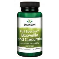 Swanson Full Spectrum Boswellia & Curcumin, 60Caps