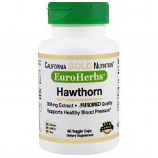 California Gold Nutrition, Hawthorn Extract, 300 mg, 60 Veggie Caps