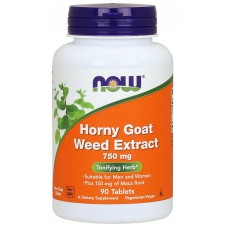 Now Foods, Horny Goat Weed Extract, 750 mg, 90 Tablets