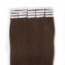 100% Tape in Skin Remy Human Hair Extensions, 20 Pcs, MEDIUM BROWN (#4)