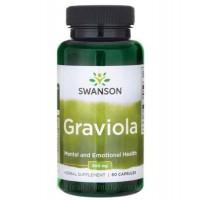 Swanson Graviola, SourSop 600mg, 60 Capsules