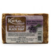 Kuza, 100%  African Black Soap, Shea Butter, Lavender, (114g)