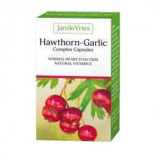 Jan De Vries Hawthorn - Garlic Complex 90 Capsules