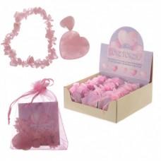 Rose Quartz Love Gift, jewellery, Tumble Stones, Rose Quartz Heart