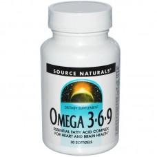 Source Naturals, Omega 3 6 9, 30 Softgels