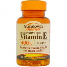 Sundown Naturals, Vitamin E, 400 IU, 100 Softgels