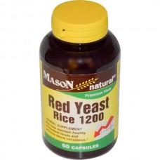 Mason Naturals, Red Yeast Rice 1200, 60 Capsules