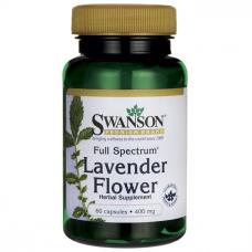 Swanson Full Spectrum Lavender Flower, 400mg, 60 Caps