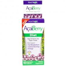 Natrol, AcaiBerry,  Diet, Acai & Green Tea Super Foods, 60 Veggie Caps